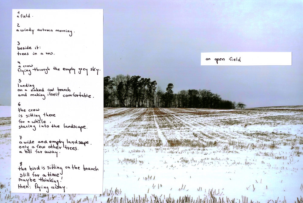 An open field is a sound poem by Maike Zazie
