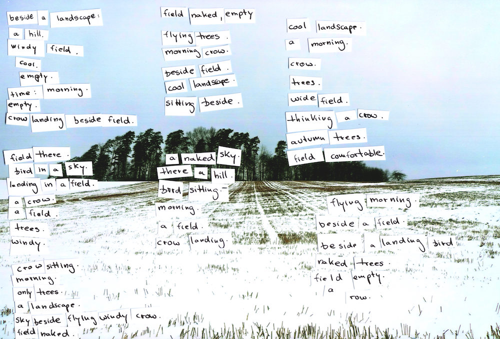 An open field is a collage by Maike Zazie